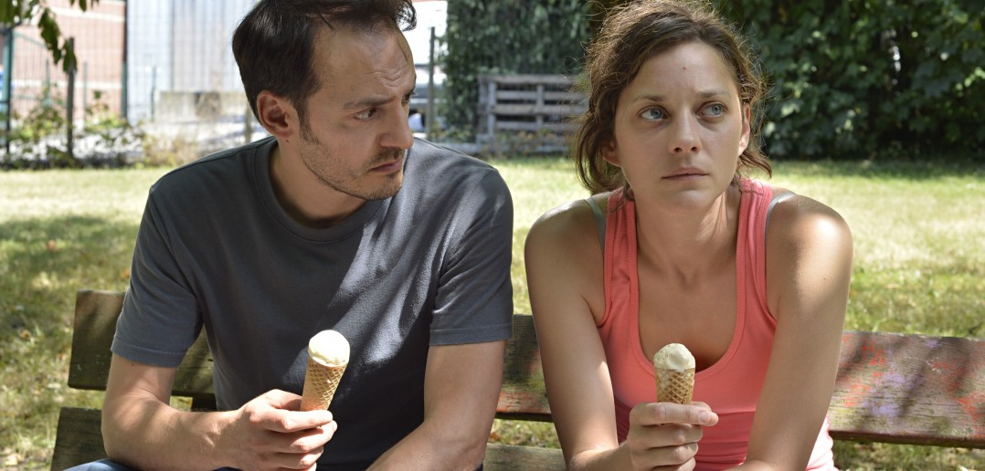 'Mesmerising': Marion Cotillard as Belgian factory worker Sandra with screen husband Fabrizio Rongio