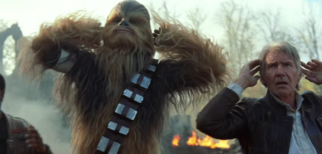 Star Wars The Force Awakens Han and Chewie